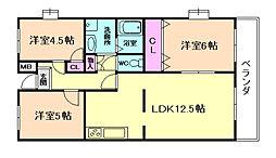 レジデンス福島[3階]の間取り