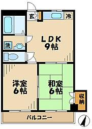 第二ノーブルマンション[2階]の間取り