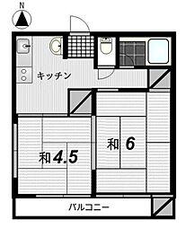 小林コーポ[1階]の間取り