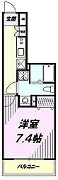 多摩都市モノレール 上北台駅 徒歩1分の賃貸マンション 9階1Kの間取り