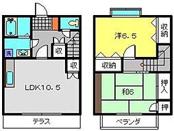 [テラスハウス] 神奈川県横浜市港南区上大岡東2丁目 の賃貸【/】の間取り