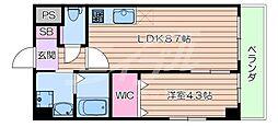 JR東海道・山陽本線 吹田駅 徒歩5分の賃貸マンション 5階1LDKの間取り