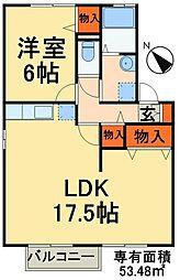 JR総武線 新検見川駅 バス10分 畑野下車 徒歩5分の賃貸アパート 1階1LDKの間取り