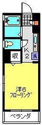 サンクレージュ横浜片倉町[304号室]の間取り