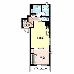 (仮称)堺市北区シャーメゾン新金岡町 3階1LDKの間取り