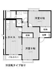東京都練馬区土支田3丁目の賃貸アパートの間取り