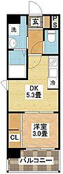 modern palazzo平和公園[6階]の間取り