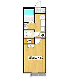 アーカスKVI[1階]の間取り