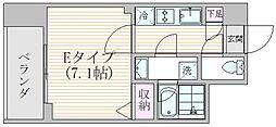 エスジーコート元浅草 9階1Kの間取り