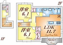 フリーデンハオス1番館[2階]の間取り
