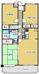 パレ・グランドール篠栗駅[503号室]の間取り