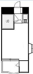 スペランザ・クニタチ 2階1Kの間取り