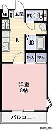 愛知県豊田市十塚町4丁目の賃貸アパートの間取り
