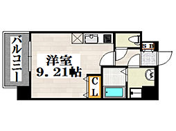 JR鹿児島本線 吉塚駅 徒歩6分の賃貸マンション 6階ワンルームの間取り