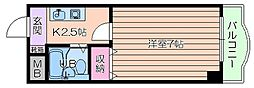 大阪府大阪市北区国分寺1丁目の賃貸マンションの間取り