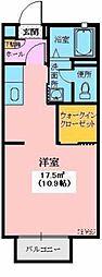 LOHAS−K 2階ワンルームの間取り