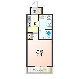 南海線 天下茶屋駅 徒歩4分の賃貸マンション 7階1Kの間取り