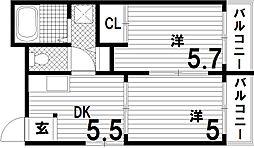 メゾンドエコール[3階]の間取り