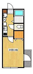 ルネッサ高津[4階]の間取り
