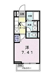東京メトロ有楽町線 護国寺駅 徒歩5分の賃貸アパート 1階1Kの間取り