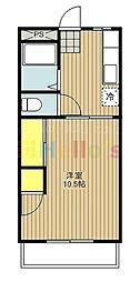 ウィローレヂデンスB棟[3階]の間取り