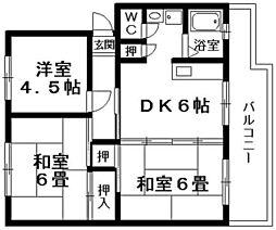 パインリーフ栗東弐番館[1階]の間取り