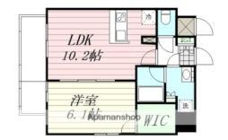 エルスタンザ広瀬通RESIDENCE 9階1LDKの間取り