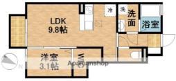 JR東海道本線 菊川駅 バス20分 しずてつストア小笠店下車 徒歩4分の賃貸アパート 1階1LDKの間取り