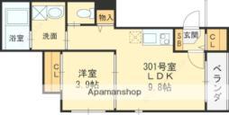 Osaka Metro谷町線 守口駅 徒歩6分の賃貸アパート 3階1LDKの間取り