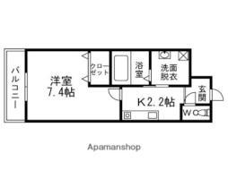阪急京都本線 淡路駅 徒歩7分の賃貸マンション 4階1Kの間取り