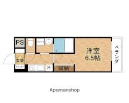 おおさか東線 JR淡路駅 徒歩3分の賃貸マンション 4階1Kの間取り