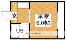 ジオナ柴島I 3階ワンルームの間取り