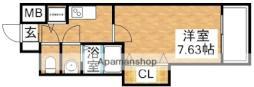ラグゼ新大阪SOUTH 3階1Kの間取り