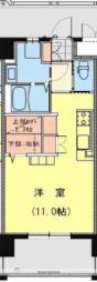JR日豊本線 宮崎駅 徒歩7分の賃貸マンション 2階ワンルームの間取り