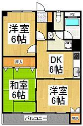 蓮見マンション[3階]の間取り