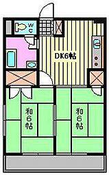 東浦和マンション[312号室]の間取り
