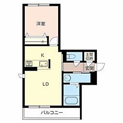 セレンディピティ[2階]の間取り