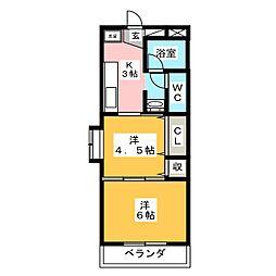 Mellowマンション[3階]の間取り
