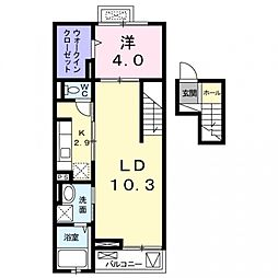クリアネスコート[4階]の間取り