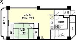 和室6畳 LDK約17.2畳