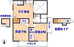 シェアハウスチシマ[2F号室]の間取り