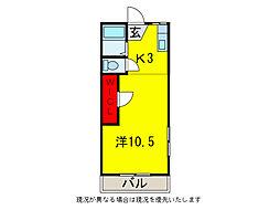 コーポCHIGUSAI・II[1階]の間取り