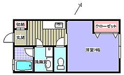 サニーヒル香島[102号室]の間取り