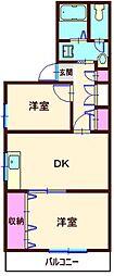 西神奈川山王森ビル[501号室]の間取り