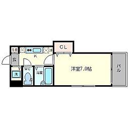 メディカル瓦屋町[2階]の間取り