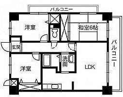 スカール富田公園[4階]の間取り