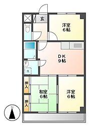 愛知県名古屋市昭和区桜山町2丁目の賃貸マンションの間取り