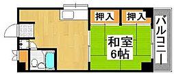 福岡県福岡市中央区大名2丁目の賃貸マンションの間取り