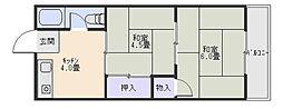 長池パンション[2階]の間取り