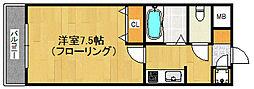 福岡県福岡市早良区高取1丁目の賃貸マンションの間取り